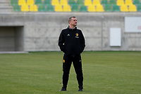 20180228 - LARNACA , CYPRUS :  Belgian head coach Ives Serneels pictured during a women's soccer game between Spain and the Belgian Red Flames , on friday 2 March 2018 at the AEK Arena in Larnaca , Cyprus . This is the second  game in group B for  Belgium during the Cyprus Womens Cup , a prestigious women soccer tournament as a preparation on the World Cup 2019 qualification duels. PHOTO SPORTPIX.BE | DAVID CATRY