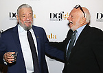 Stephen Sondheim and Hal Prince attends 2017 Dramatists Guild Foundation Gala reception at Gotham Hall on November 6, 2017 in New York City.