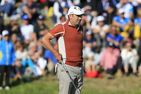 Sergio Garcia (Team Europe) on the 9th green during Saturday's Foursomes Matches at the 2018 Ryder Cup 2018, Le Golf National, Ile-de-France, France. 29/09/2018.<br /> Picture Eoin Clarke / Golffile.ie<br /> <br /> All photo usage must carry mandatory copyright credit (© Golffile | Eoin Clarke)