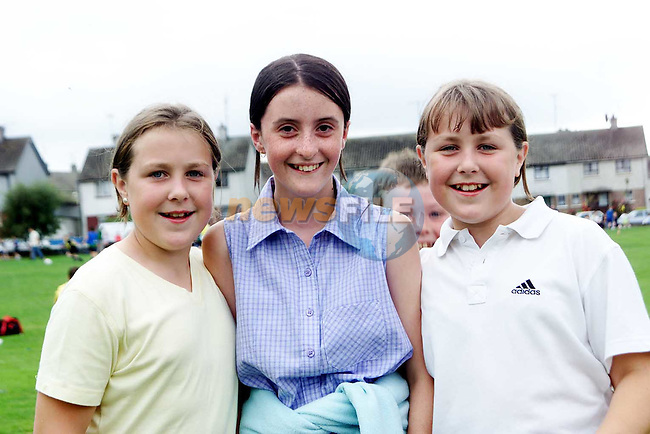 Carol Mulroy, Emer McEvoy and Sarah Mulroy at the kids party in Beach Drive Park, Dunleer..Picture Paul Mohan Newsfile