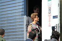 BRASILIA,DF, 23.03.2016 - DILMA-DF - A presidente Dilma Rousseff fala sobre a decisão do ministro Teori Zavascki, do Supremo Tribunal Federal, que determinou que o juiz federal Sérgio Moro envie para o STF as investigações da Operação Lava Jato que envolvem o ex-presidente Luiz Inácio Lula da Silva, durante visita às obras de infraestrutura de solo para operação do Satélite Geoestacionário de Defesa e Comunicações Estratégicas, do Centro de Operações Espaciais-COPE, no VI Comar da Aeronáutica (Ares Especial 12), no Lago Sul, em Brasília.  (Foto: Sérgio Kremer/Brazil Photo Press)