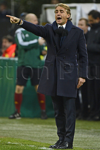 26.02.2015. Milan, Italy. Europa League football. Inter Milan versus Celtic.  Roberto Mancini Inter Milan