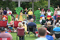 NWA Democrat-Gazette/J.T. WAMPLER Opera in the Ozarks presents Monkey See, Monkey Do at the Botanical Garden of the Ozarks in Fayetteville Tuesday June 5, 2019. The opera which is based on a Mexican folk tale is a one-act bilingual opera by composer Robert Xavier Rodriguez. It tells the story of a sombrero seller whose hats are stolen by a band of monkeys Ð and who cleverly manages to get them back, while, incidentally, winning the hand of a lady. Opera in the Ozarks will present Monkey See, Monkey Do at more than a dozen free or low cost performances held at area libraries and other community locations and open to the public. The next performance is today ((JUNE 5)) at the Rogers Public Library and Thursday at the Berryville Public Library.