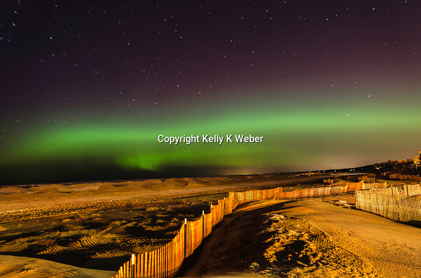 Northern Lights from South Haven, Michigan