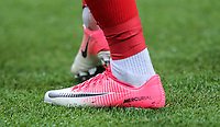 Djibril Sidibe (Monaco) of France Nike Mercurial Pink football boots during the International Friendly match between France and England at Stade de France, Paris, France on 13 June 2017. Photo by David Horn/PRiME Media Images.