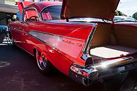 Red Chevrolet Bel Air, Return to Renton Auto Show 2017, Washington, USA.