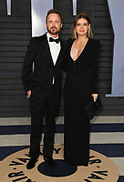 04 March 2018 - Los Angeles, California - Aaron Paul, Lauren Parsekian. 2018 Vanity Fair Oscar Party hosted following the 90th Academy Awards held at the Wallis Annenberg Center for the Performing Arts. <br /> CAP/ADM/BT<br /> &copy;BT/ADM/Capital Pictures