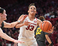 Arkansas' Chelsea Dun gee goes drives to the basket against Missouri Sunday Jan. 12, 2020 at Bud Walton Arena in Fayetteville. The Hogs won 90-73.  <br /> Visit http://bit.ly/35LCcWr for a gallery of the game. (NWA Democrat-Gazette/J.T. Wampler)