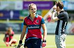 NIJMEGEN -  Amber Folmer (Huizen) voor  de tweede play-off wedstrijd dames, Nijmegen-Huizen, voor promotie naar de hoofdklasse.. Huizen promoveert naar de hoofdklasse. COPYRIGHT KOEN SUYK
