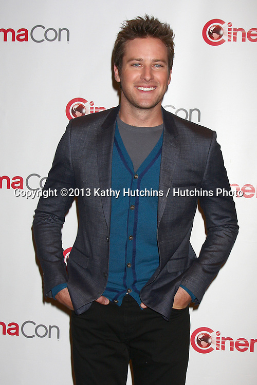"""LAS VEGAS - APR 17:  Armie Hammer - actor, """"The Lone Ranger"""" on the press ine for Disney's Cinemacon Presentation at the Caesars Palace on April 17, 2013 in Las Vegas, NV"""