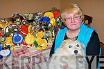 Mary O'Mahony Cahersiveen with her winning dog 'Cindy' who over the past 14 years has claimed over 60 prizes at dogs show around the county.