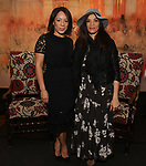 Selenis Leyva and Laura Gomez attends The Vineyard Theatre's Emerging Artists Luncheon at The National Arts Club on November 9, 2017 in New York City.