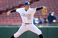 May 9, 2009:  Relief Pitcher Tim McNab of the Buffalo Bisons, International League Class-AAA affiliate of the New York Mets, delivers a pitch during a game at the Coca-Cola Field in Buffalo, FL.  Photo by:  Mike Janes/Four Seam Images