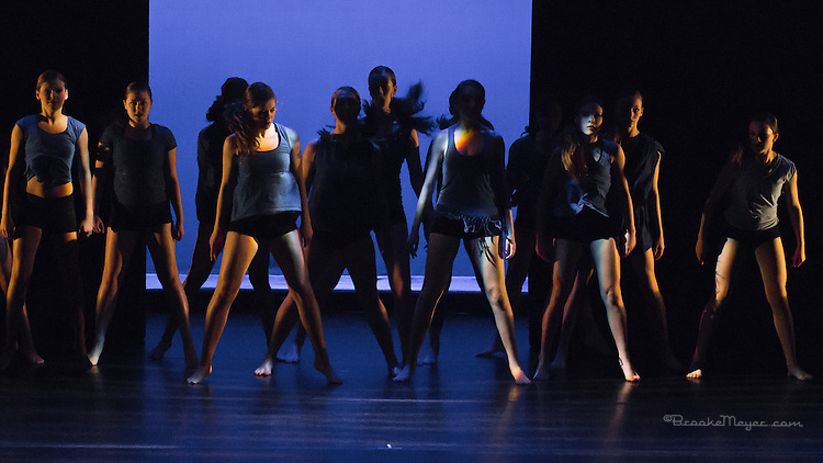 "Thursday Rehearsal, 3D Project Jazz Company ""X"", 10th Annual Spring Showcase, Cary Arts Center, Cary, North Carolina."