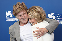 Robert Redford, Jane Fonda at the &quot;Our Souls At Night&quot; photocall, 74th Venice Film Festival in Italy on 1 September 2017.<br /> <br /> Photo: Kristina Afanasyeva/Featureflash/SilverHub<br /> 0208 004 5359<br /> sales@silverhubmedia.com