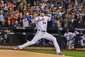 Noah Syndergaard (Mets),<br /> OCTOBER 5, 2016 - MLB :<br /> Noah Syndergaard of the New York Mets pitches in the first inning during the National League Wild Card Game against the San Francisco Giants at Citi Field in Flushing, New York, United States. (Photo by Hiroaki Yamaguchi/AFLO)