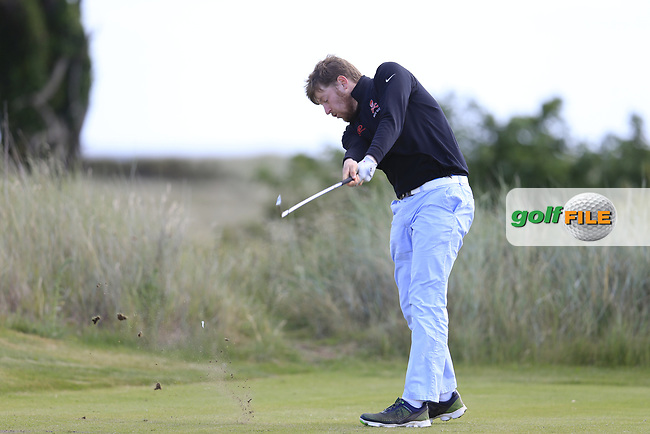 Ben Murray (Waterford Castle) during the 2nd round of the East of Ireland championship, Co Louth Golf Club, Baltray, Co Louth, Ireland. 03/06/2017<br /> Picture: Golffile | Fran Caffrey<br /> <br /> <br /> All photo usage must carry mandatory copyright credit (&copy; Golffile | Fran Caffrey)