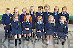 Lough Quittane NS junior infant class enjoying their first day of school on Thursday front row l-r: Ciara O'Donoghue, Lauren Carey, Isabella O'Leary, Stephanie Carey, Eimear Harrington. Back row: Jack O'Brien, Sarah McAulliffe, Shauna Moriarty, Beth Healy, Adam Whitty, Ian Coffey, Grace O'Connor and Lucy Brosnan....