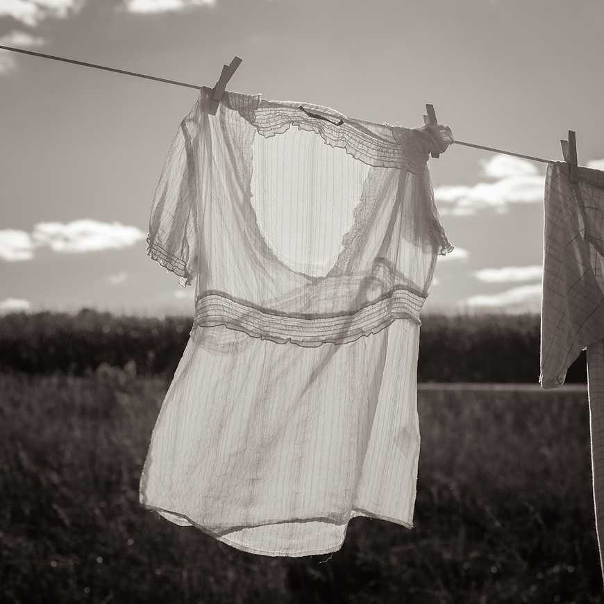 """I am honored to have """"Clothesline"""" as one of two of my images invited to exhibit at the 2017 Biennial exhibit at the Dubuque Museum of Arts in Dubuque, Iowa. The exhibit includes work from five Midwest states and runs from May 27 through August 20. Thank you @dubuqueart and juror Amanda C. Burdan from @brandywinerivermuseum in Pennsylvania."""
