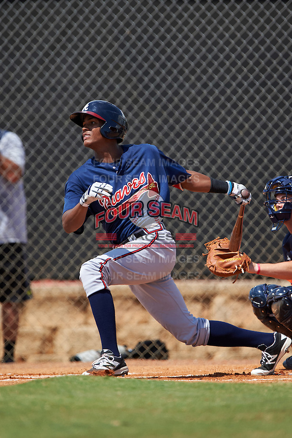 Atlanta Braves Cristian Pache (94) during an Instructional League game against the Houston Astros on September 26, 2016 at Osceola County Stadium Complex in Kissimmee, Florida.  (Mike Janes/Four Seam Images)
