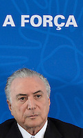 BRASÍLIA, DF, 08.07.2016 – TEMER-CNI – O presidente em exercício, Michel Temer durante reunião com Líderes da Mobilização Empresarial pela Inovação (MEI), na manhã desta sexta-feira, 08, na Confederação Nacional da Indústria em Brasília.   (Foto: Ricardo Botelho/Brazil Photo Press)