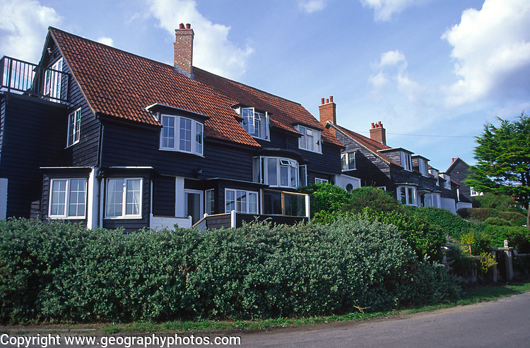 A088MF Wooden holiday home houses Thorpeness Suffolk England