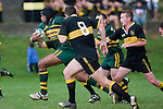 F. Samuelu sprints upfield  past Bombay defenders. ounties Manukau Premier club rugby game between Bombay & Pukekohe played at Bombay on the 19th of May 2007. Pukekohe led 24 - 0 at halftime & went on to win 30 - 22.