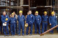- workers in the shipyard Fincantieri of Riva Trigoso (Genoa)<br /> <br /> - operai del cantiere navale Fincantieri di Riva Trigoso (Genova)