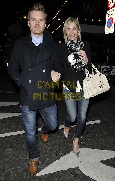 LONDON, ENGLAND - FEBRUARY 27: James Midgley &amp; Jenni Falconer attend the &quot;War Horse&quot; NT Live gala performance, The New London Theatre, Drury Lane, on Thursday February 27, 2014 in London, England, UK.<br /> CAP/CAN<br /> &copy;Can Nguyen/Capital Pictures