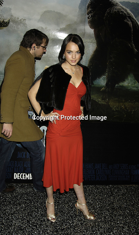 "Lindsay Lohan ..at The World Premier of Universal Pictures "" King Kong"" ..on December 5, 2005 at The Loews E-Walk. ..Photo by Robin Platzer, Twin Images"