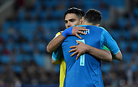 MOSCU - RUSIA, 03-07-2018: CRadamel FALCAO GARCIA y David OSPINA jugadores de Colombia lucen decepcionados después del partido de octavos de final entre Colombia y Inglaterra por la Copa Mundial de la FIFA Rusia 2018 jugado en el estadio del Spartak en Moscú, Rusia. / Radamel FALCAO GARCIA and David OSPINA players of Colombia look disappointed after the match between Colombia and England of the round of 16 for the FIFA World Cup Russia 2018 played at Spartak stadium in Moscow, Russia. Photo: VizzorImage / Julian Medina / Cont