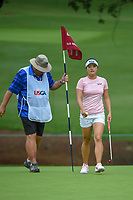 Jin Young Ko (KOR) after sinking her putt on 10 during round 1 of the U.S. Women's Open Championship, Shoal Creek Country Club, at Birmingham, Alabama, USA. 5/31/2018.<br /> Picture: Golffile   Ken Murray<br /> <br /> All photo usage must carry mandatory copyright credit (© Golffile   Ken Murray)