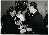 JeanDore et Jean  Chretien le 10 juillet 1986<br /> <br /> <br /> PHOTO :  Agence Quebec Presse