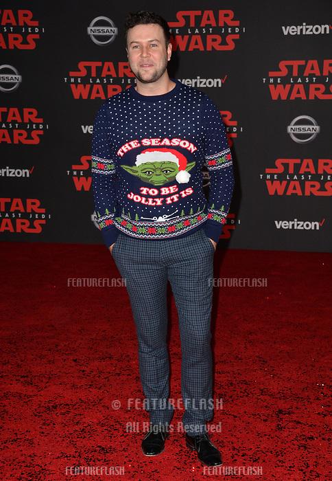 "Taran Killam at the world premiere for ""Star Wars: The Last Jedi"" at the Shrine Auditorium. Los Angeles, USA 09 December  2017<br /> Picture: Paul Smith/Featureflash/SilverHub 0208 004 5359 sales@silverhubmedia.com"