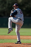 February 28, 2010:  Pitcher Nick Chmielewski (20) of Illinois Fighting Illini during the Big East/Big 10 Challenge at Raymond Naimoli Complex in St. Petersburg, FL.  Photo By Mike Janes/Four Seam Images