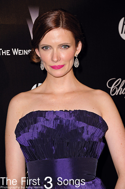 Bitsie Tulloch attends the 2012 Weinstein Company Golden Globes After Party at The Beverly Hilton Hotel in Beverly Hills, CA on January 15, 2012.