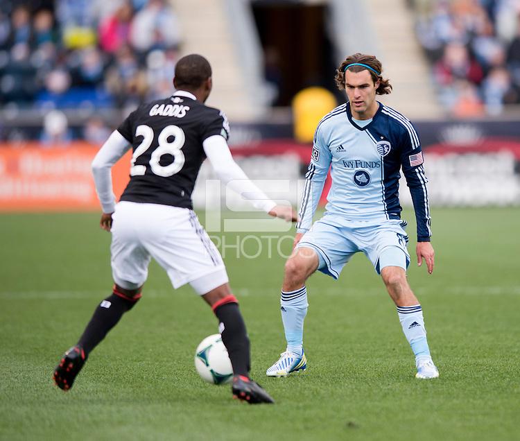 Graham Zusi, Raymon Gaddis.  Sporting Kansas City defeated Philadelphia Union, 3-1. at PPL Park in Chester, PA.