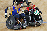 Kazuhiko Kanno (JPN),<br /> SEPTEMBER 14, 2016 - WheelChair Rugby : <br /> Preliminary Round Group A<br /> match Japan - Sweden<br /> at Carioca Arena 1 during the Rio 2016 Paralympic Games in Rio de Janeiro, Brazil.<br /> (Photo by Shingo Ito/AFLO)