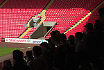 Darlington 1 Lincoln City 1, 09/04/2007. The Darlington Arena, League Two. Lincoln fans are squashed in. Photo by Paul Thompson.