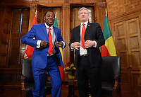Canadian Prime Minister Stephen Harper meets with Benin President Thomas Boni Yayi on Parliament Hill in Ottawa on Tuesday, January 8, 2013. THE CANADIAN PRESS/Sean Kilpatrick
