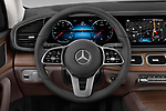 Car pictures of steering wheel view of a 2020 Mercedes Benz GLE 350 5 Door SUV Steering Wheel