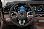 Car pictures of steering wheel view of a 2020 Mercedes Benz GLE 350 5 Door SUV Steering Wheel