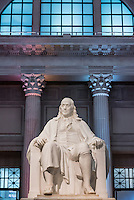 Benjamin Franklin statue at the Franlin Institute, Philadelphia, Pennsylvania, USA