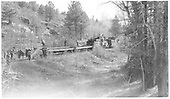 RGS #42 with crew dismantling track.<br /> RGS  Millwood, CO  Taken by Richardson, Robert W. - 11/6/1952