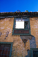 Decrepit house open to the elements, La luguna, Tenerife, Canary Islands.