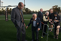 "Inaugural Hall of Fame Dinner<br /> For the first time in its 125-year history, Occidental College celebrates its rich athletic tradition of Olympic champs and prominent athletes and coaches with the induction of eight Oxy sports legends into the Occidental College Athletics Hall of Fame. Dean Cromwell '1902, Bob Gutowski '58, Jack Kemp '57, Sammy Lee '43, Bob McMillen '52,  Bill Redell '64, Arthur ""Bud"" Teachout '27, and Pat Yeomans '38 will be recognized in the inaugural class, Oct. 26, 2012 at Patterson Field.<br /> (Photo by Marc Campos, Occidental College Photographer)"