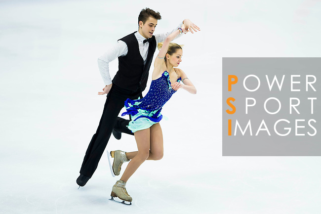 TAIPEI, TAIWAN - JANUARY 22:  Elizaveta Tretiakov and Viktor Kovalenko of Uzbekistan compete in the Ice Dance Short Dance event during the Four Continents Figure Skating Championships on January 22, 2014 in Taipei, Taiwan.  Photo by Victor Fraile / Power Sport Images *** Local Caption *** Elizaveta Tretiakov; Viktor Kovalenko