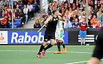 The Hague, Netherlands, June 03: Simon Child #6 of New Zealand celebrates after scoring during the field hockey group match (Men - Group B) between South Africa and the Black Sticks of New Zealand on June 3, 2014 during the World Cup 2014 at GreenFields Stadium in The Hague, Netherlands. Final score 0:5 (0:3) (Photo by Dirk Markgraf / www.265-images.com) *** Local caption ***