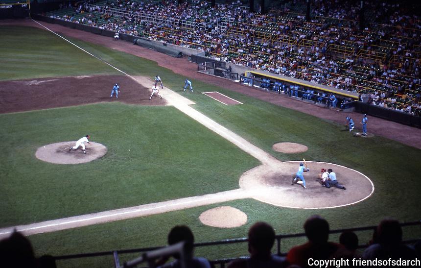 Ballparks: Chicago Comiskey Park Night Game. White Sox vs. Kansas City, 1988.