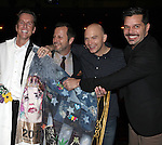 Matt Wall, Rob Ashford, Michael Cerveris & Ricky Martin.attending the Broadway Opening Night Actors' Equity Gypsy Robe Ceremony for recipient Matt Wall in 'EVITA' at the Marquis Theatre in New York City on 4/6/2012